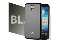 Фирменная ультра-тонкая полимерная из мягкого качественного силикона задняя панель-чехол-накладка для Samsung Galaxy Mega 6.3 GT-i9200 черная