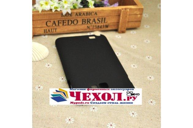 Фирменная ультра-тонкая пластиковая задняя панель-чехол-накладка для Samsung Galaxy Note 1 N7000/LTE GT-N7005 черная