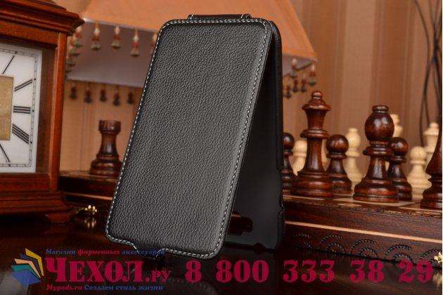 Фирменный вертикальный откидной чехол-флип для Samsung Galaxy Note 2 GT-N7100/N7105 черный кожаный