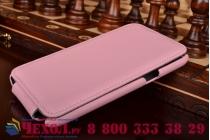 Фирменный вертикальный откидной чехол-флип для Samsung Galaxy Note 2 GT-N7100/N7105 розовый кожаный