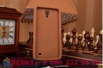 """Фирменная необычная уникальная полимерная мягкая задняя панель-чехол-накладка для Samsung Galaxy Mega 2 SM-G750F """"тематика Андроид в тёмном Шоколаде"""""""