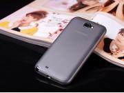 Фирменная ультра-тонкая пластиковая задняя панель-чехол-накладка для Samsung Galaxy Note 2 черная..