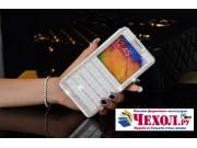 Чехол-книжка для Samsung Galaxy Note 3 SM-N900/N9005 с окошком белый кожаный..