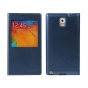 Чехол-книжка для Samsung Galaxy Note 3 SM-N900/N9005 с окошком синий кожаный..