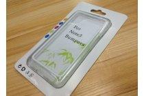 Фирменный оригинальный чехол-бампер для Samsung Galaxy Note 3 белый прорезиненный