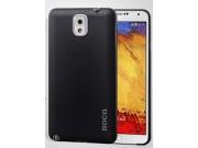 Фирменная ультра-тонкая пластиковая задняя панель-чехол-накладка для Samsung Galaxy Note 3 черная..