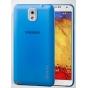 Фирменная ультра-тонкая пластиковая задняя панель-чехол-накладка для Samsung Galaxy Note 3 синяя..