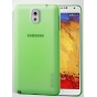 Фирменная ультра-тонкая пластиковая задняя панель-чехол-накладка для Samsung Galaxy Note 3 зелёная..