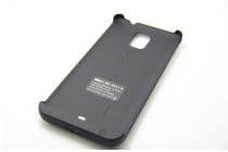 Чехол-бампер со встроенной усиленной мощной батарей-аккумулятором большой повышенной расширенной ёмкости 4800mAh для Samsung Galaxy Note 4 SM-G850F/SM-N910C черный + гарантия