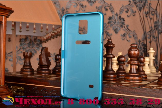 Фирменная металлическая задняя панель-крышка-накладка из тончайшего облегченного авиационного алюминия для Samsung Galaxy Note 4 синяя