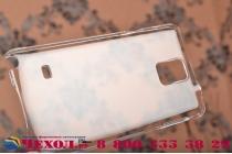 Фирменная ультра-тонкая пластиковая задняя панель-чехол-накладка для Samsung Galaxy Note 4 прозрачная