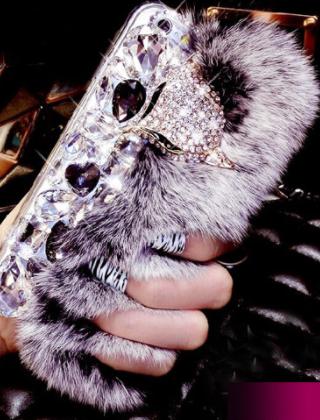 Фирменная роскошная элитная пластиковая задняя панель-накладка украшенная стразами кристалликами и декорированная элементами для Samsung Galaxy Note 4 серый с лисой