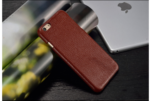 Фирменная роскошная элитная премиальная задняя панель-крышка для Samsung Galaxy Note 4 из качественной кожи коричневый