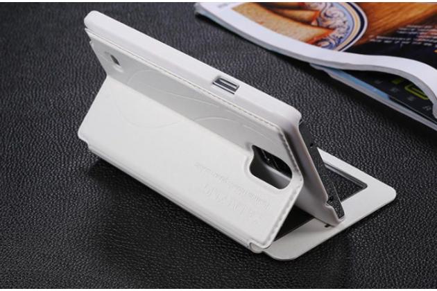 Фирменный чехол-книжка для Samsung Galaxy Note 4 белый