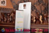 Усиленная батарея-аккумулятор большой ёмкости 8000mAh для телефона Samsung Galaxy Note 4 SM-G850F/SM-N910C + задняя крышка в комплекте белая + гарантия