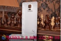 Усиленная батарея-аккумулятор большой ёмкости 7600mAh для телефона Samsung Galaxy Note 4 SM-G850F/SM-N910C + задняя крышка в комплекте белая + гарантия