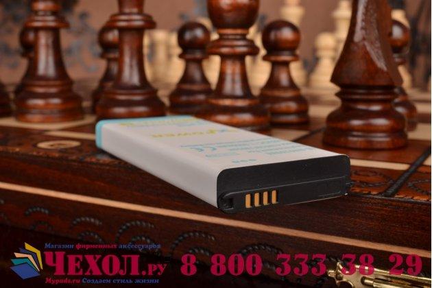 Усиленная батарея-аккумулятор большой повышенной ёмкости 7600mAh для телефона Samsung Galaxy Note 4 + задняя крышка в комплекте белая + гарантия