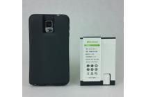 Усиленная батарея-аккумулятор большой ёмкости 9500mah для телефона Samsung Galaxy Note 4 SM-G850F/SM-N910C + задняя крышка черная+ гарантия
