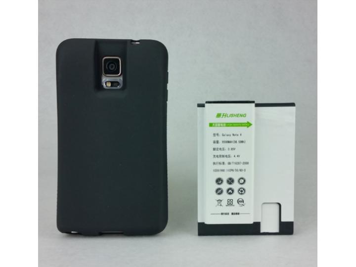 Усиленная батарея-аккумулятор большой повышенной ёмкости 9600mah для телефона Samsung Galaxy Note 4 SM-N910C/F..