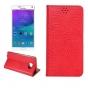 Фирменный чехол-книжка с подставкой и визитницей для Samsung Galaxy Note 5 лаковая кожа крокодила алый огненны..