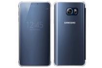 """Чехол-книжка с дизайном """"Clear View Cover""""  для Samsung Galaxy Note 5 черный"""