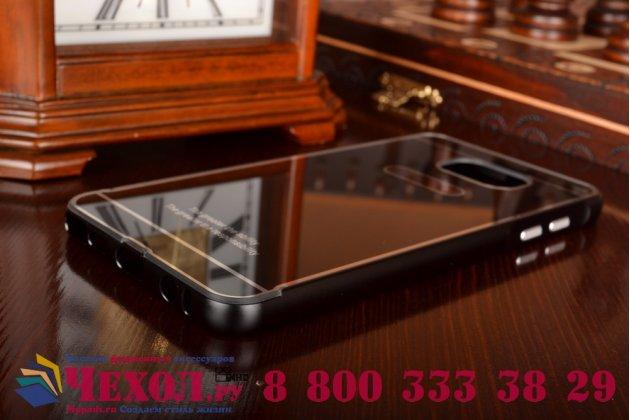Фирменная металлическая задняя панель-крышка-накладка из тончайшего облегченного авиационного алюминия для Samsung Galaxy Note 5 черная
