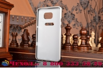 Фирменная металлическая задняя панель-крышка-накладка из тончайшего облегченного авиационного алюминия для Samsung Galaxy Note 5 серебристая