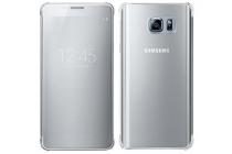 "Чехол-книжка с дизайном ""Clear View Cover""  для Samsung Galaxy Note 5 серебристый"