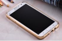 """Фирменная металлическая задняя панель-крышка-накладка из тончайшего облегченного авиационного алюминия для Samsung Galaxy On5 G550 5.0"""" золотая"""