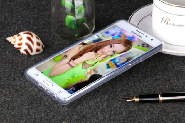 """Фирменная ультра-тонкая полимерная из мягкого качественного силикона задняя панель-чехол-накладка для  Samsung Galaxy On5 G550 5.0"""" белая"""