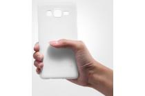 """Фирменная задняя панель-крышка-накладка из тончайшего и прочного пластика для Samsung Galaxy On5 G550 5.0"""" белая"""