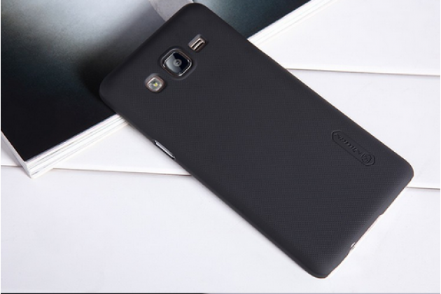 """Фирменная задняя панель-крышка-накладка из тончайшего и прочного пластика для Samsung Galaxy On5 G550 5.0"""" черная"""