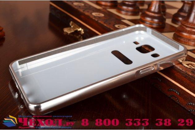 """Фирменная металлическая задняя панель-крышка-накладка из тончайшего облегченного авиационного алюминия для Samsung Galaxy On5 G550 5.0"""" серебренная"""