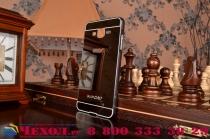 """Фирменная металлическая задняя панель-крышка-накладка из тончайшего облегченного авиационного алюминия для Samsung Galaxy On7 O7 G600/G6000 5.5"""" черная"""