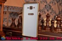 """Фирменная металлическая задняя панель-крышка-накладка из тончайшего облегченного авиационного алюминия для Samsung Galaxy On7 O7 G600/G6000 5.5"""" золотая"""