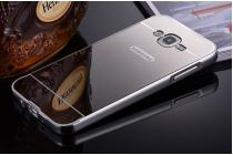 """Фирменная металлическая задняя панель-крышка-накладка из тончайшего облегченного авиационного алюминия для Samsung Galaxy On7 O7 G600/G6000 5.5"""" серебрянная"""