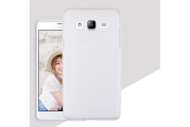 """Фирменная ультра-тонкая полимерная из мягкого качественного силикона задняя панель-чехол-накладка для Samsung Galaxy On7 O7 G600/G6000 5.5"""" белая"""