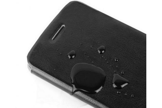 """Фирменный чехол-книжка из качественной водоотталкивающей импортной кожи на жёсткой металлической основе для Samsung Galaxy On7 O7 G600/G6000 5.5"""" черный"""