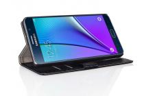 """Фирменный чехол-книжка с подставкой для Samsung Galaxy On7 O7 G600/G6000 5.5"""" лаковая кожа крокодила черный"""
