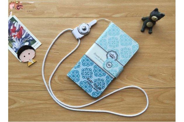"Фирменный чехол-футляр для Samsung Galaxy Premier GT-i9260 ""тематика Бабочка"" голубой с рисунком"