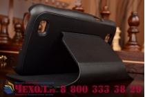 Чехол-футляр-подставка для Samsung Galaxy Premier GT-i9260 черный с застежкой кожаный