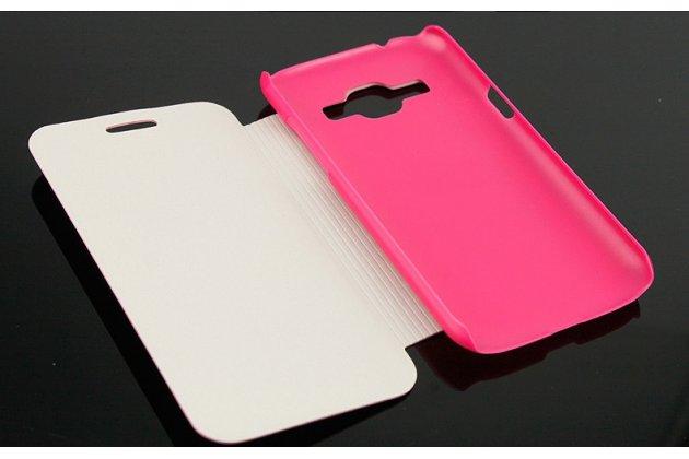 Чехол-футляр-подставка для Samsung Galaxy Premier GT-i9260 розовый с застежкой кожаный