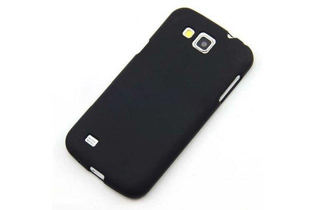 Фирменная ультра-тонкая пластиковая задняя панель-чехол-накладка для Samsung Galaxy Premier GT-i9260 черная матовая