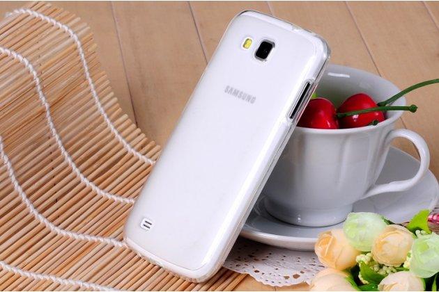 Фирменная ультра-тонкая силиконовая задняя панель-чехол-накладка для Samsung Galaxy Premier GT-i9260 белая