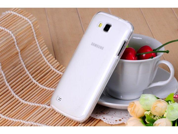 Фирменная ультра-тонкая силиконовая задняя панель-чехол-накладка для Samsung Galaxy Premier GT-i9260 белая..
