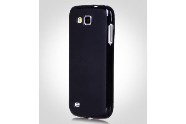 Фирменная ультра-тонкая силиконовая задняя панель-чехол-накладка для Samsung Galaxy Premier GT-i9260 черная