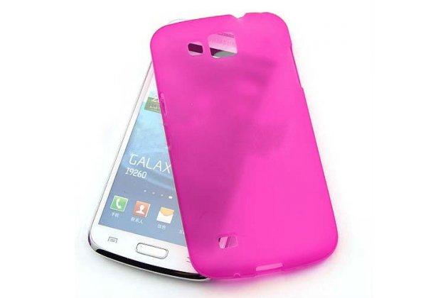 Фирменная ультра-тонкая силиконовая задняя панель-чехол-накладка для Samsung Galaxy Premier GT-i9260 фиолетовая