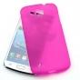 Фирменная ультра-тонкая силиконовая задняя панель-чехол-накладка для Samsung Galaxy Premier GT-i9260 фиолетова..