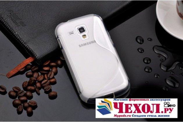 Фирменная ультра-тонкая полимерная из мягкого качественного силикона задняя панель-чехол-накладка для Samsung Galaxy S Duos GT-S7562 прозрачная