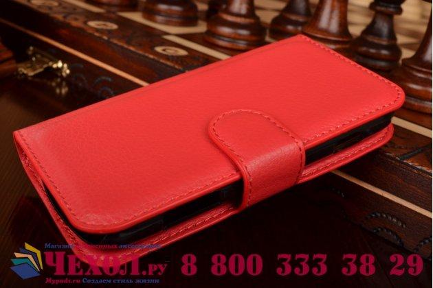 Фирменный чехол-книжка с подставкой для Samsung Galaxy S Duos GT-S7562 красный